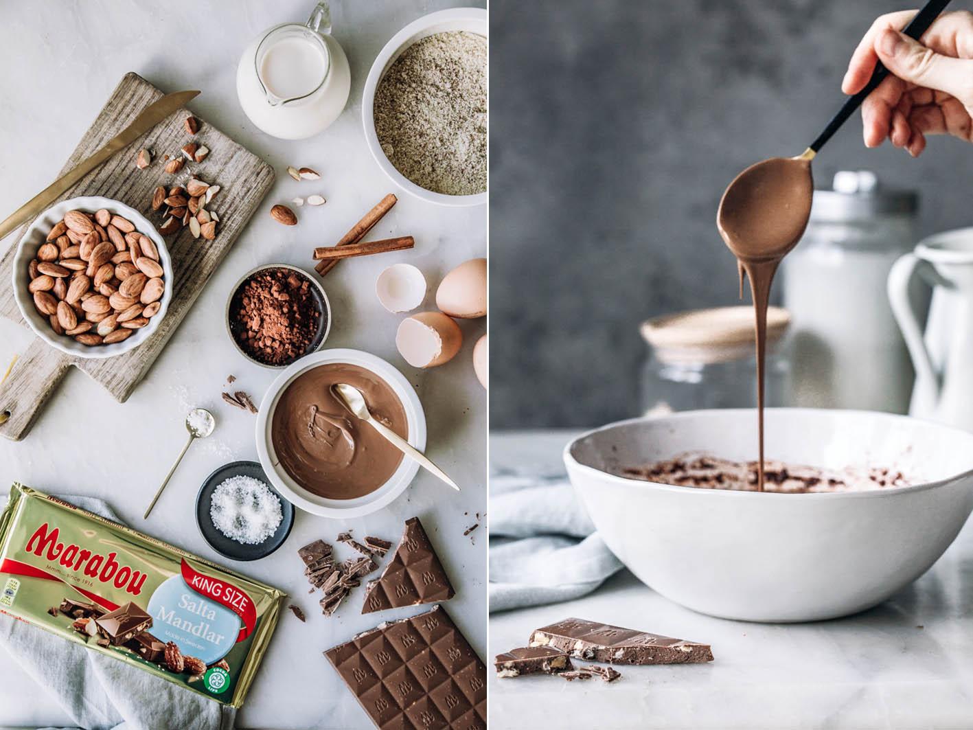 Zutaten für Schokoladenauflauf