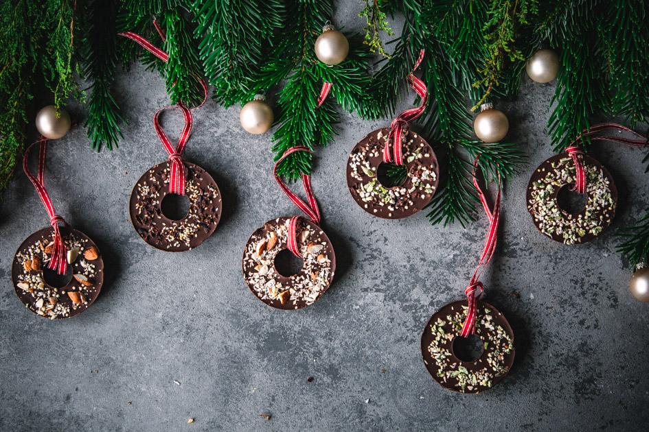 Weihnachtsbaumanhänger schokolade