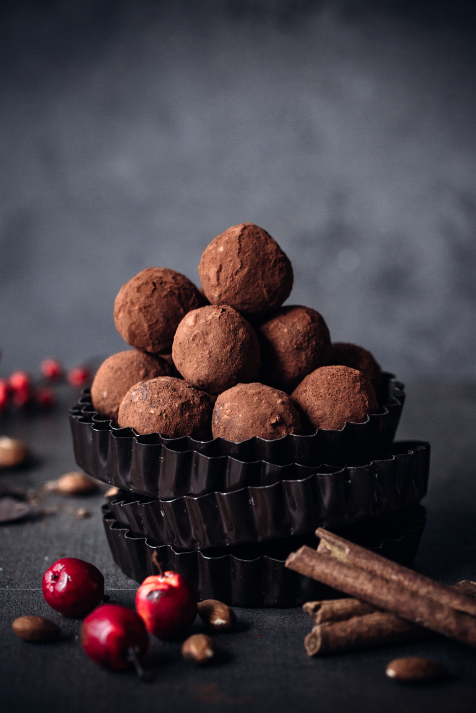 Schokoladentrüffel mit Bratapfel