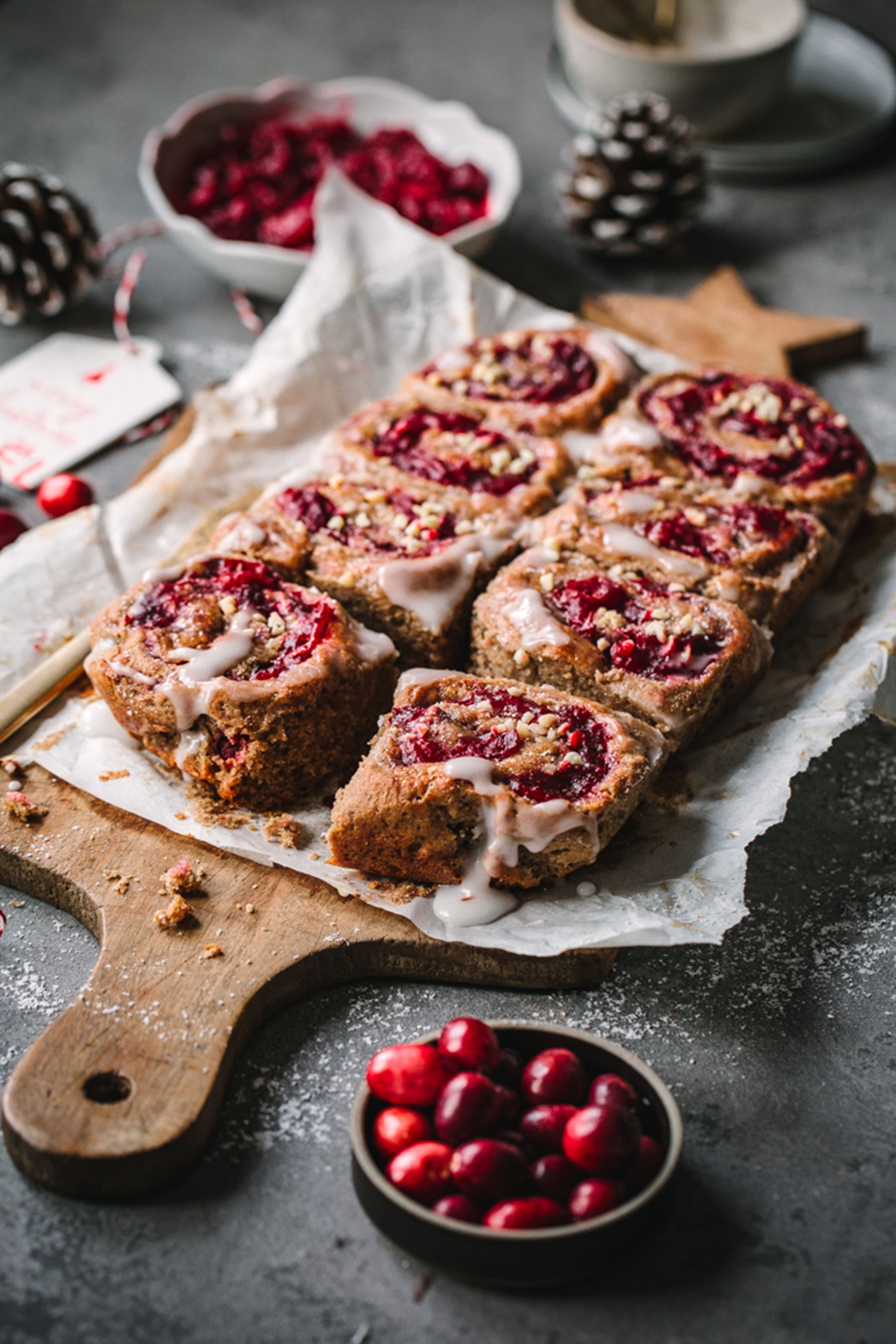 Lebkuchen-Cranberry-Schnecken