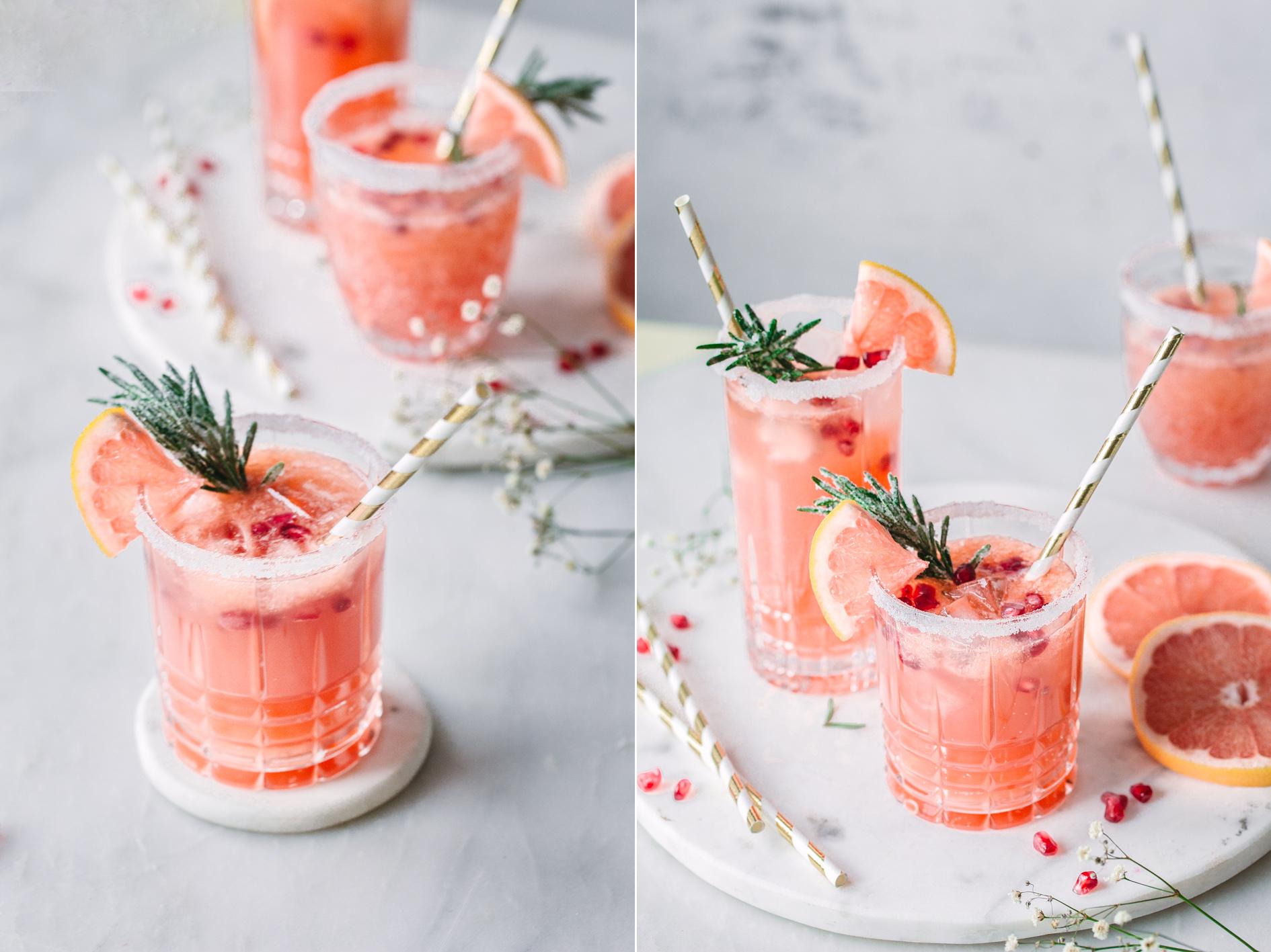 Alkoholfreier Cocktail ohne Zucker: Mit Grapefruit und Granatapfel Saft