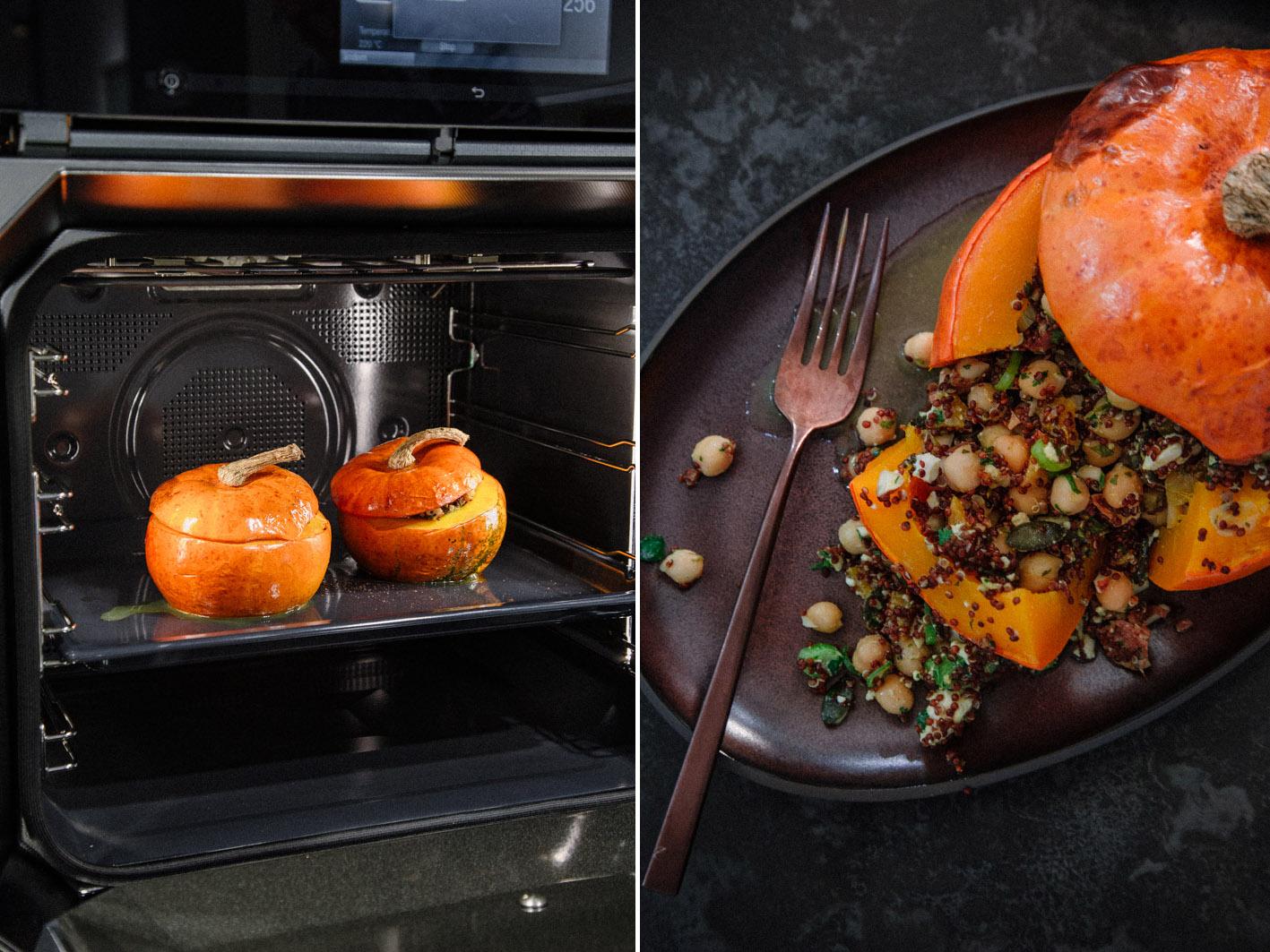 Kürbis aus dem Ofen