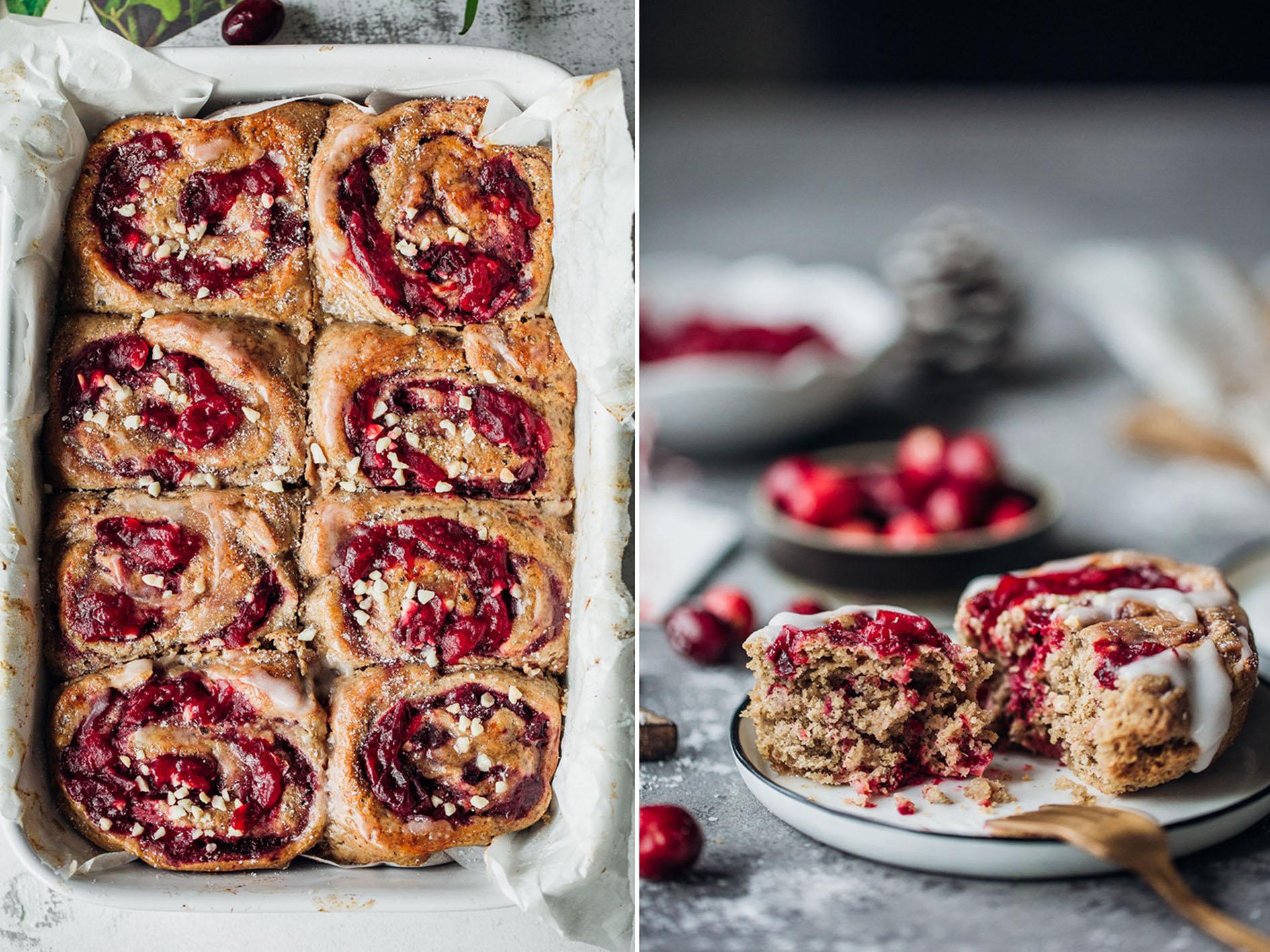 Lebkuchen-Hefe-Schnecken