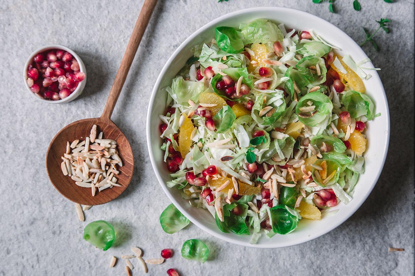 Rosenkohl Granatapfel Salat