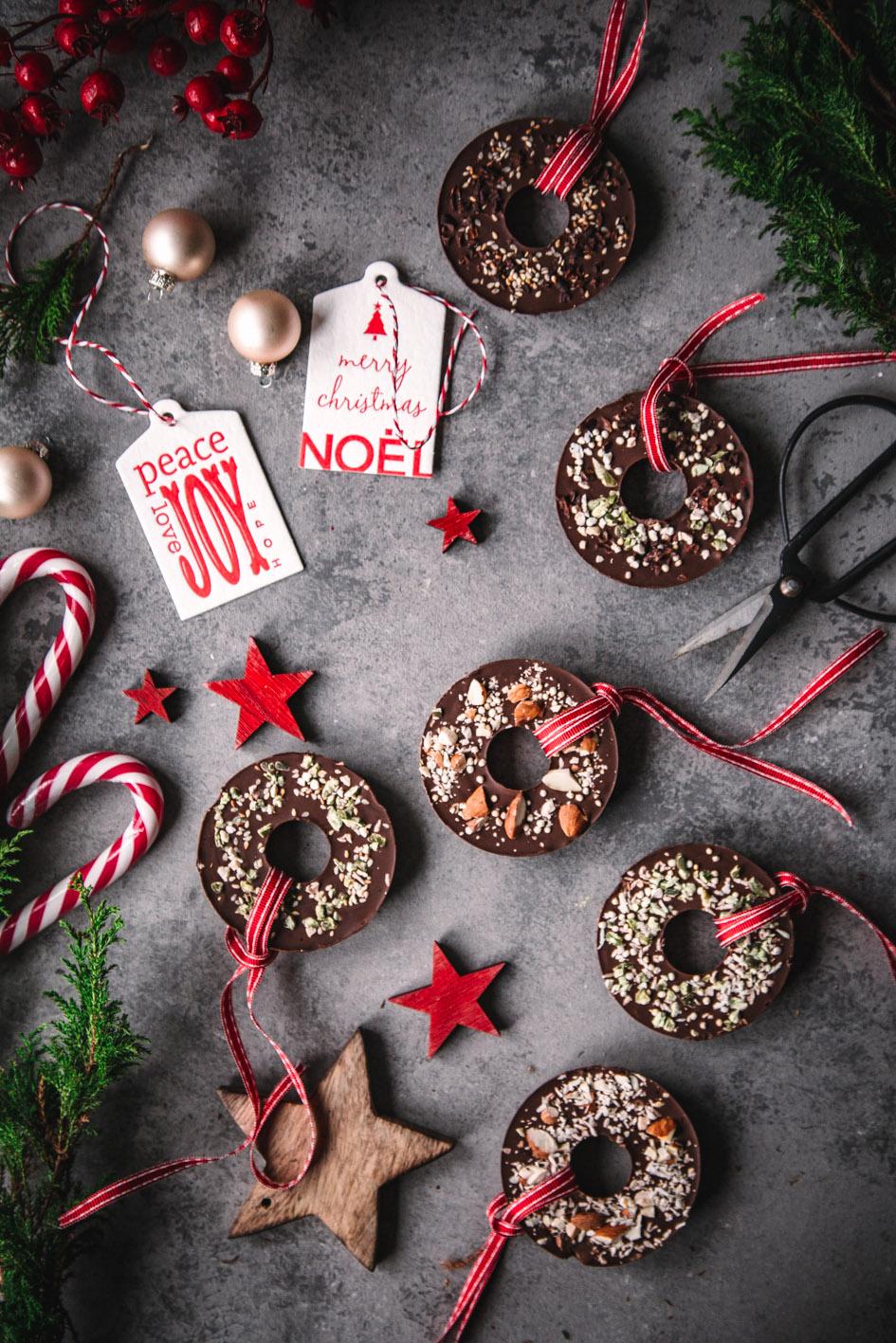 Schokokringel für den Weihnachtsbaum