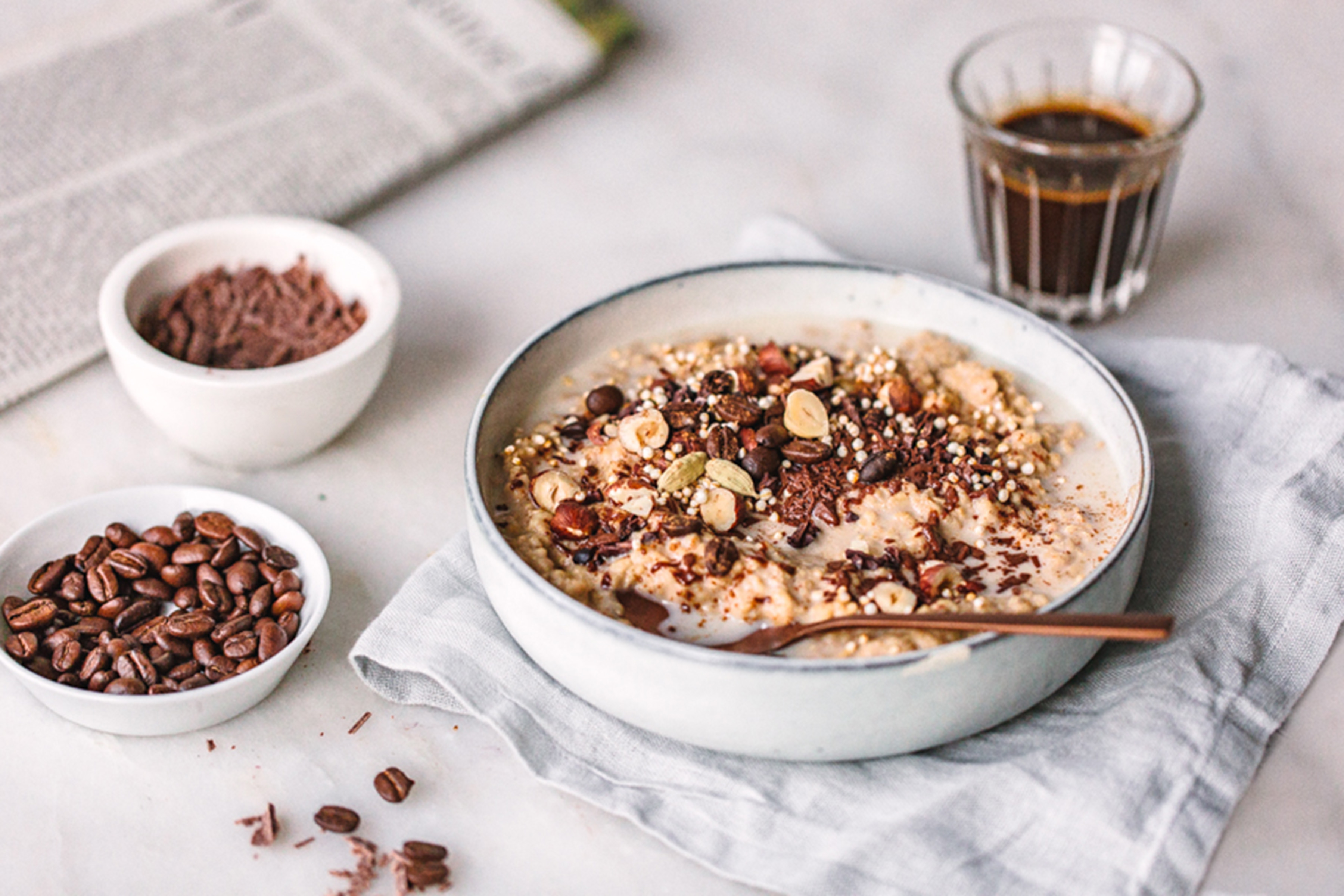 Kaffee Schoko Porridge