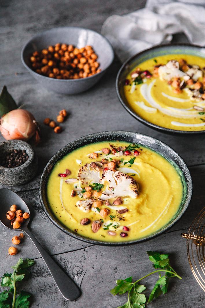 Blumenkohl-Kokos-Suppe mit Kurkuma