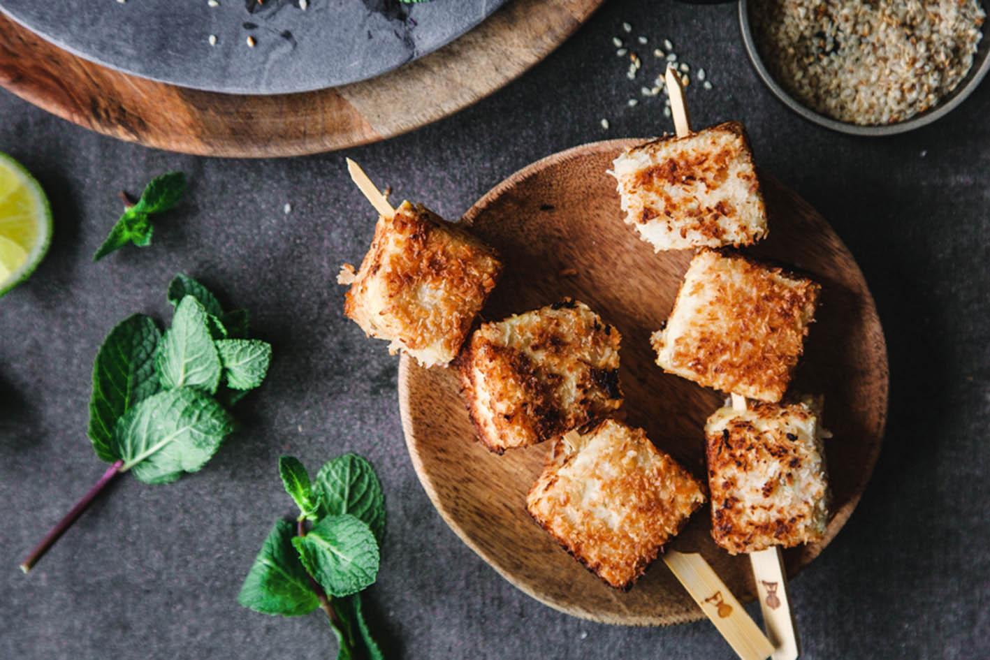 knuspriger Kokos Tofu