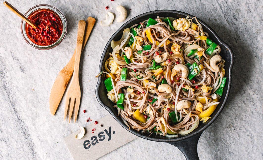 Gebratene Nudeln wie vom Chinesen – aber in gesund!