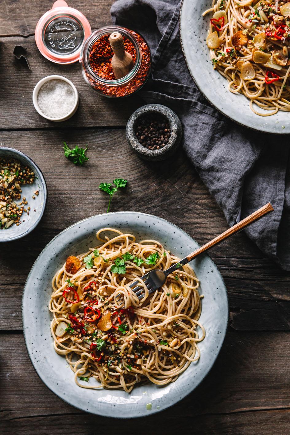 Quinoa Spaghetti Alio Olio