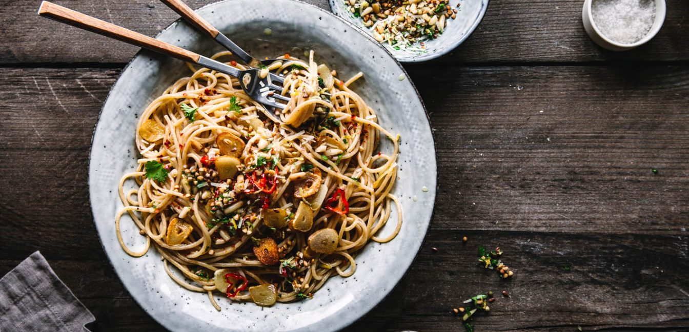 Power-Spaghetti Aglio e Olio