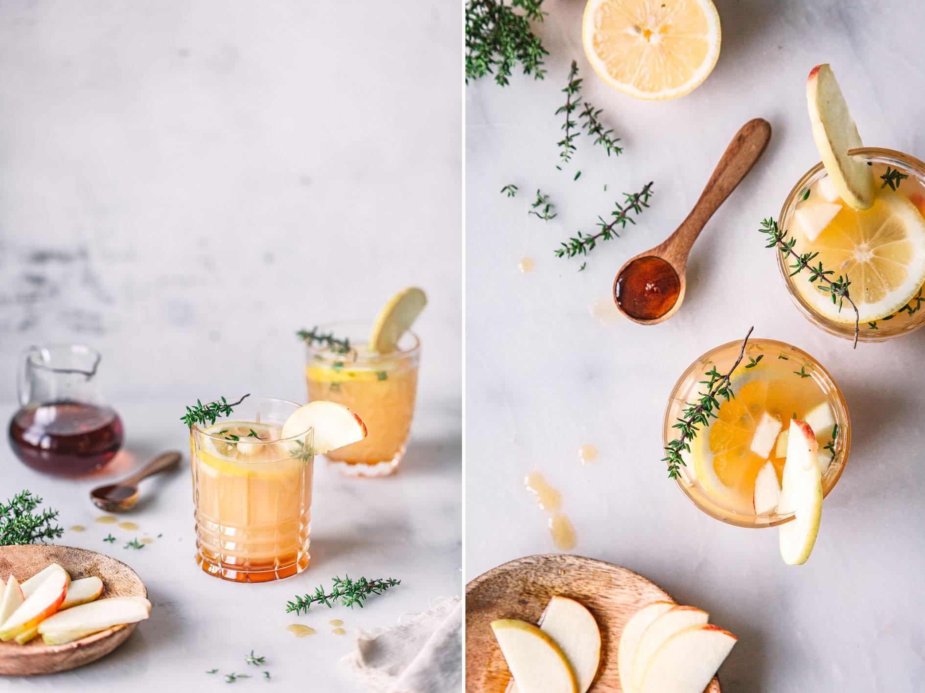 Apfel-Thymian-Drink