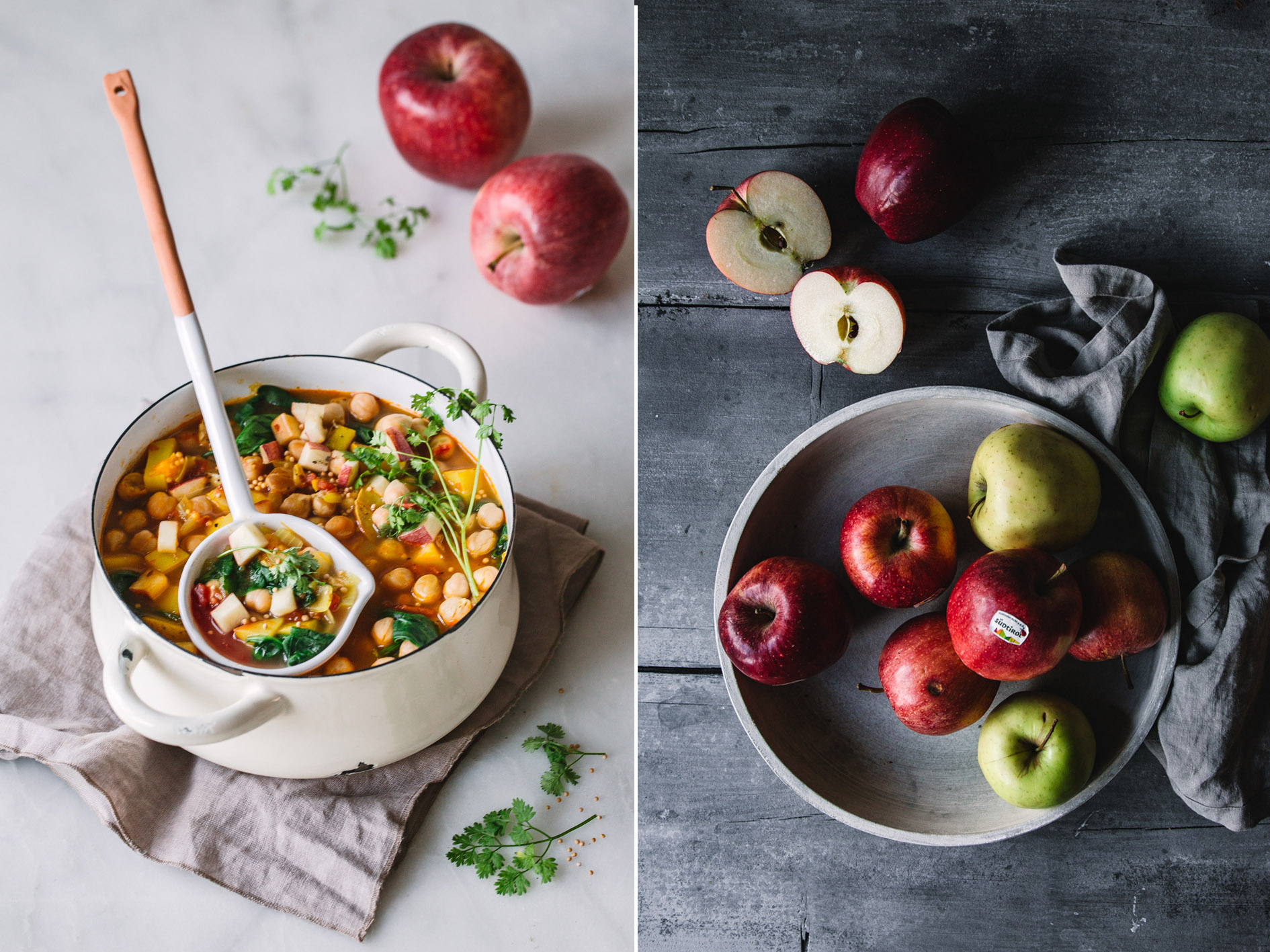 Kichererbsen-Curry mit Äpfeln