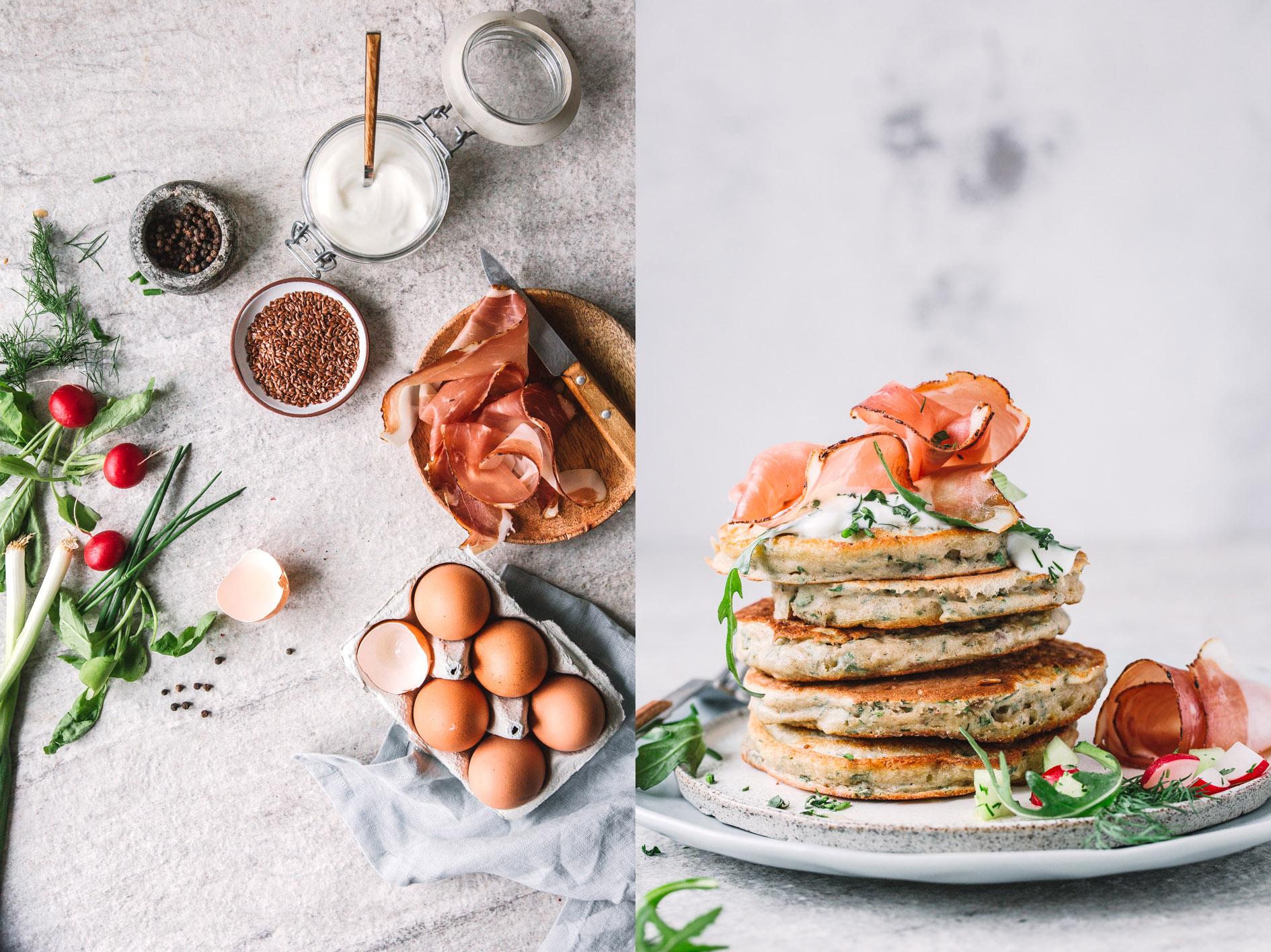 Herzhafte Kräuter Pancakes