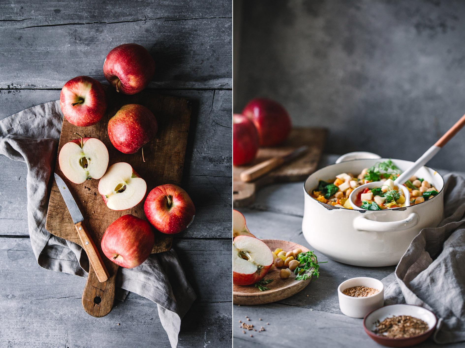 Kichererbsen-Curry mit Apfel