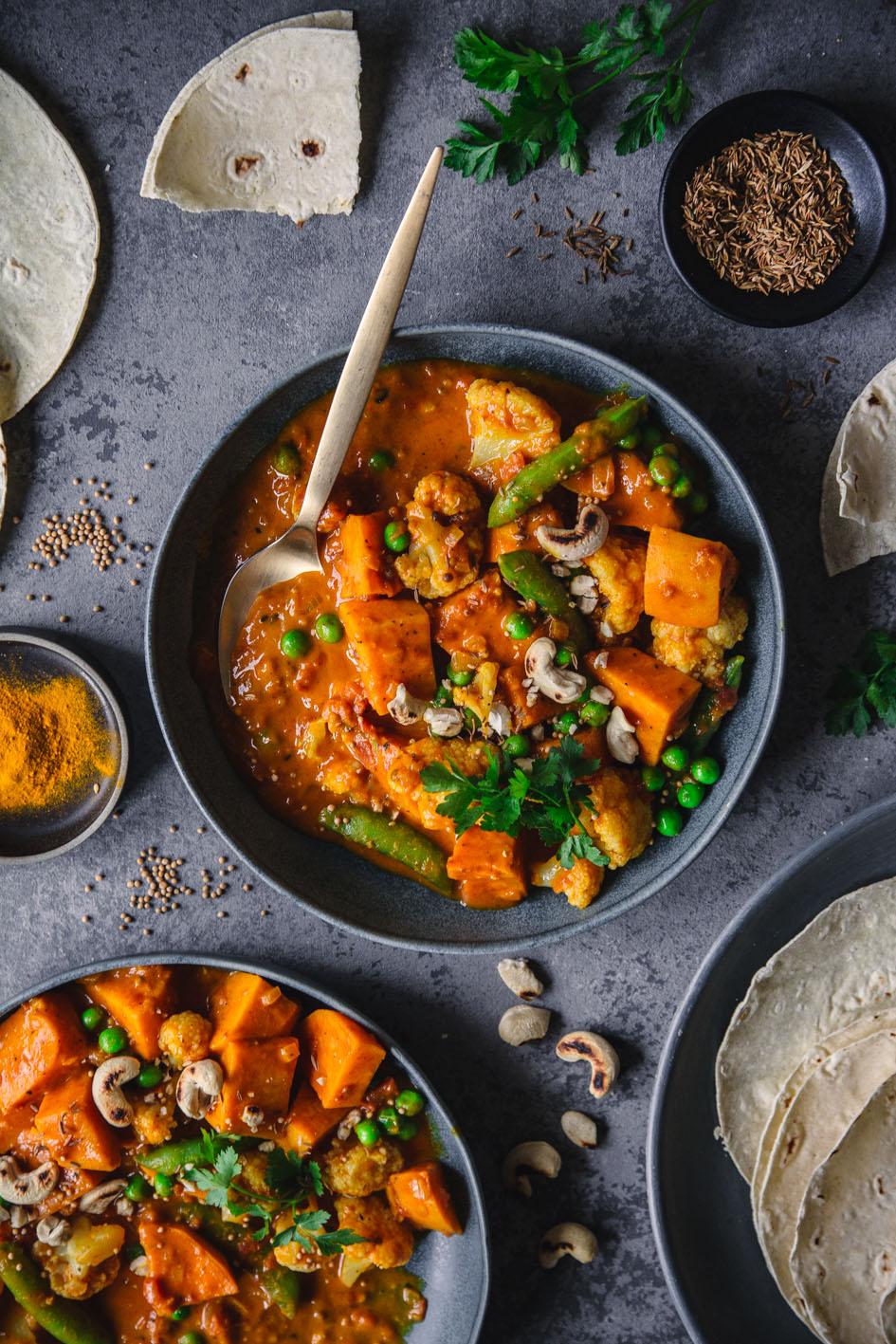 Indisches Süßkartoffelcurry (vegan)