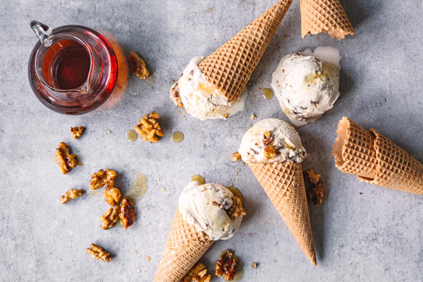 Maple Walnut Eis aus gesunden ZUtaten