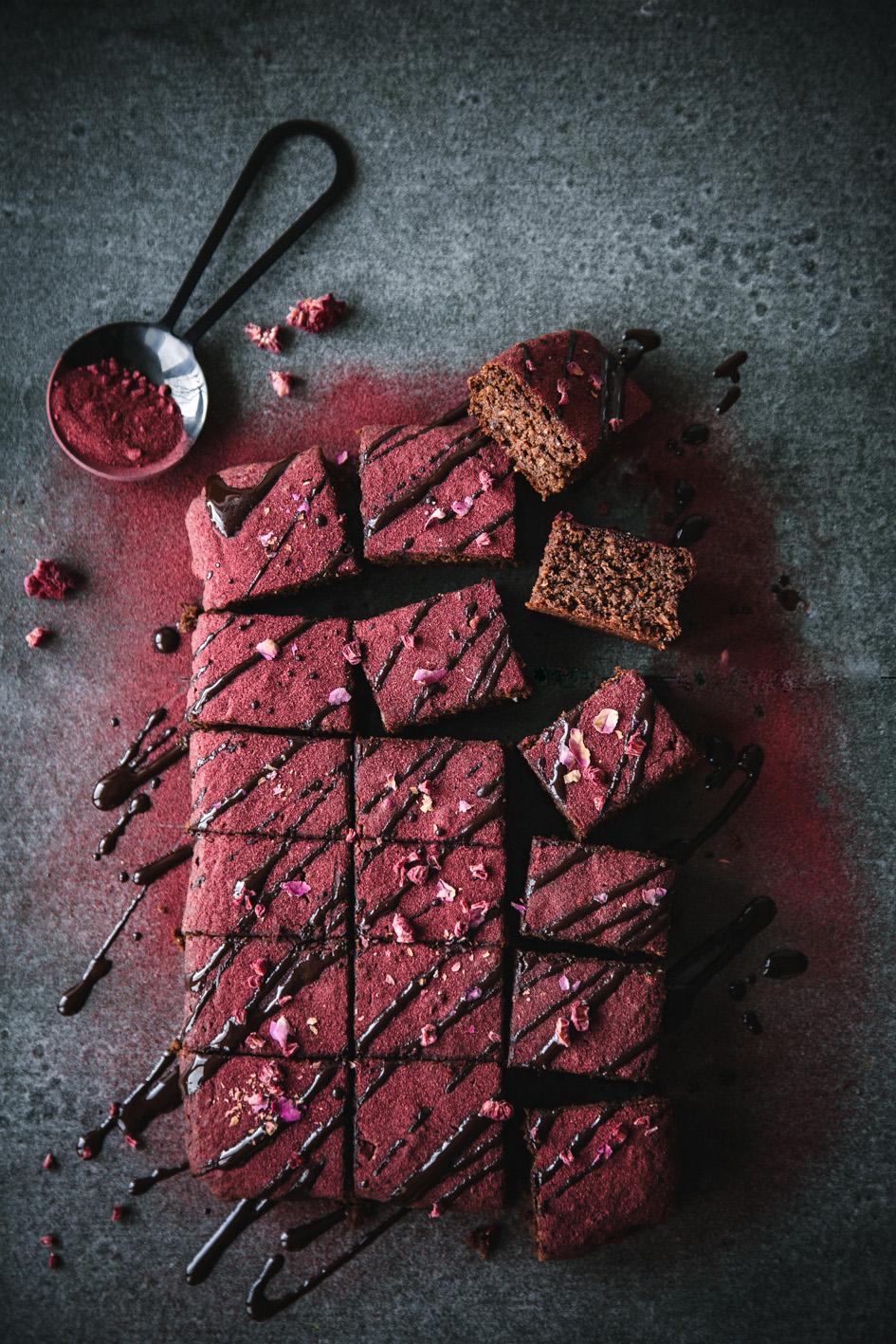 Gesündere Brownies mit Roter Bete