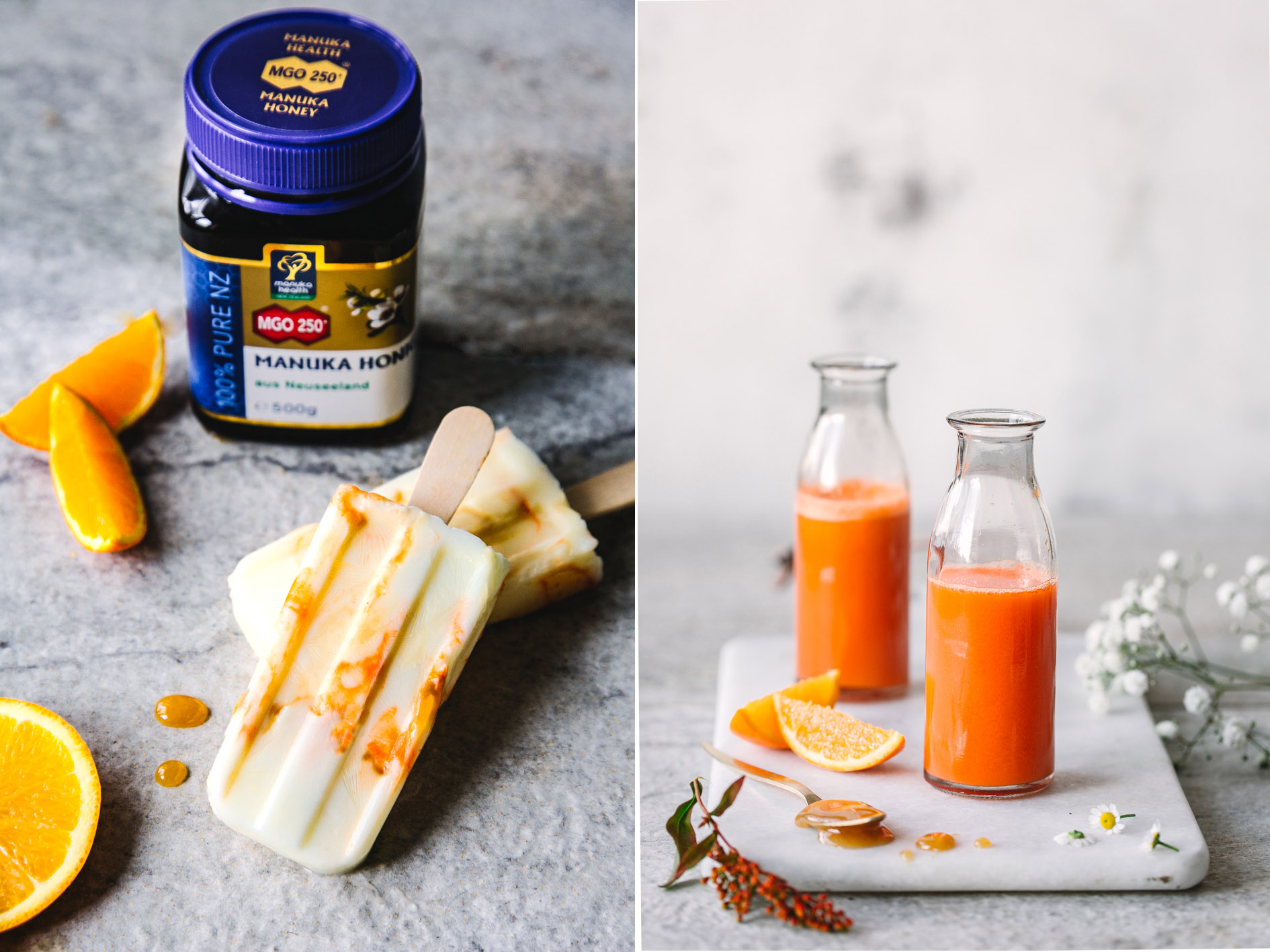Süßkartoffel-Möhren-Saft mit Manuka Honig