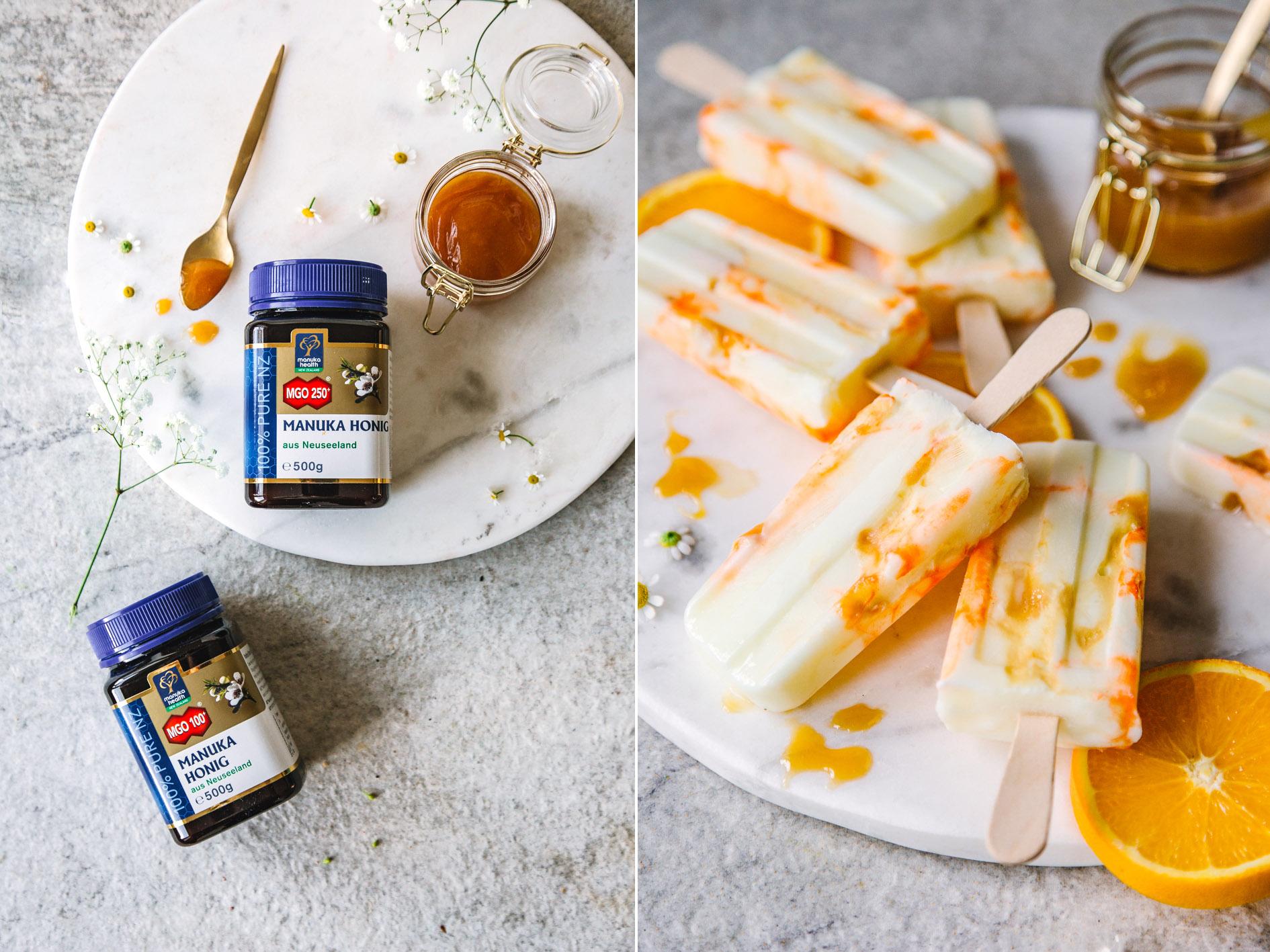 Joghurt-Honig-Popsicles