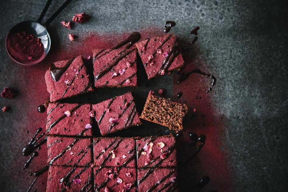 Schokoladen-Rote Bete Brownies