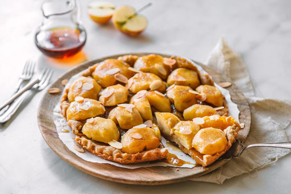 Apfel Tarte Tatin mit Ahornsirup
