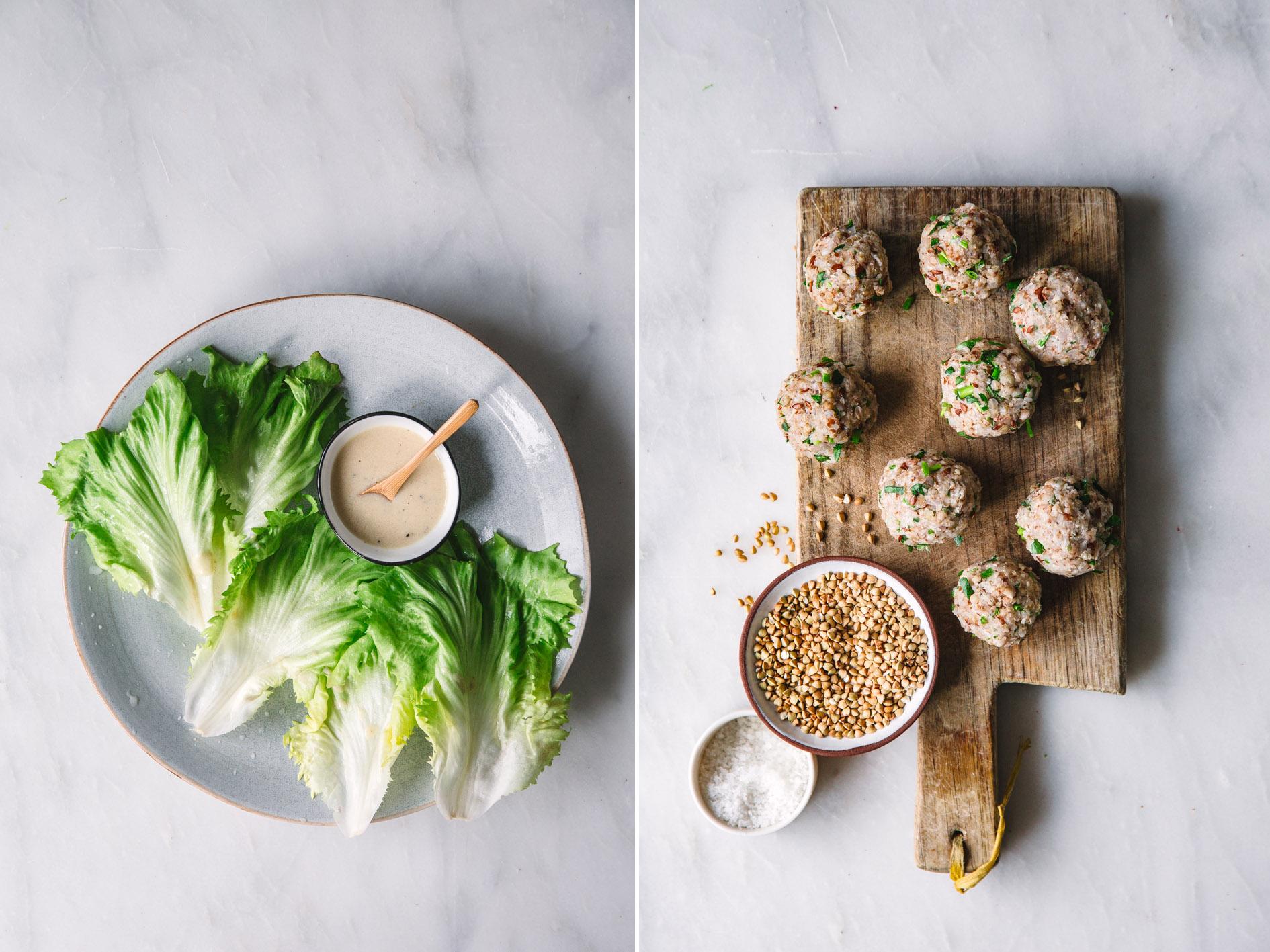 Zutaten für vegane Buchweizenbällchen