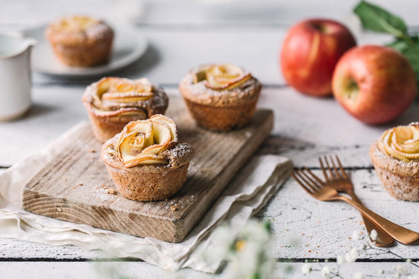 Apfelrosen Muffins