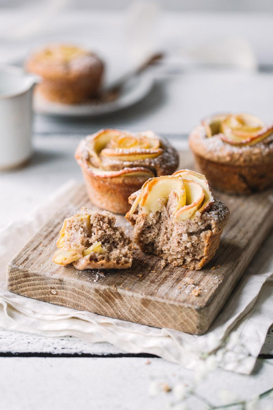 Apfelrosen-Muffin aus gesunden Zutaten