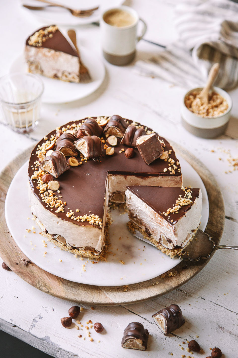 No Bake Haselnuss Cheesecake