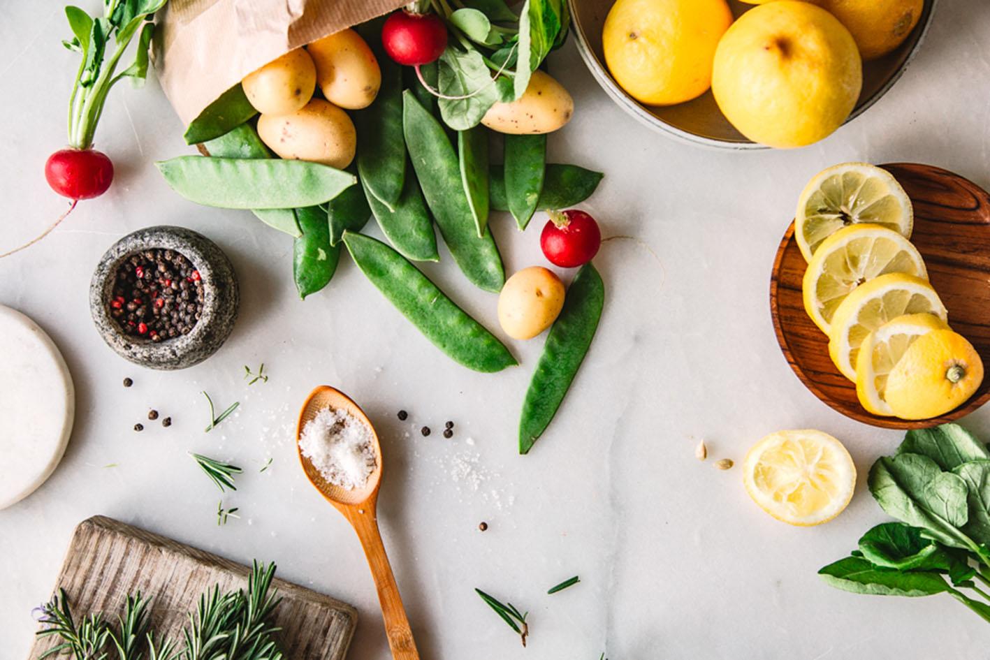 Zutaten für Kabeljau aus dem Ofen