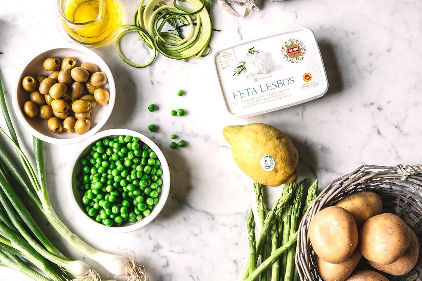 Zutaten für Gemüsekuchen
