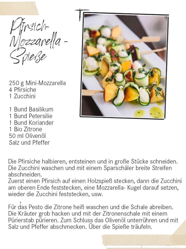 Pfirsich Mozzarella SPieße
