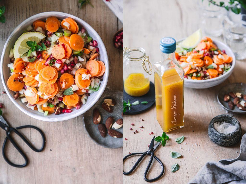 Möhren-Fenchel-Salat mit Mangodressing