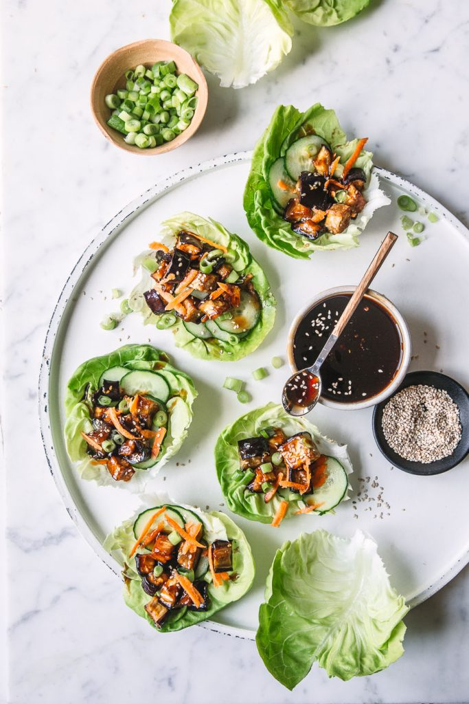 Auberginen Salat Wraps