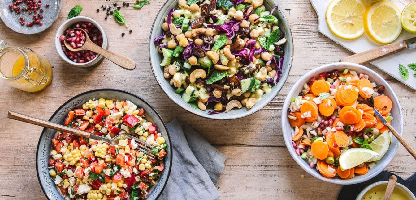 Drei Schnelle Grill-Salate