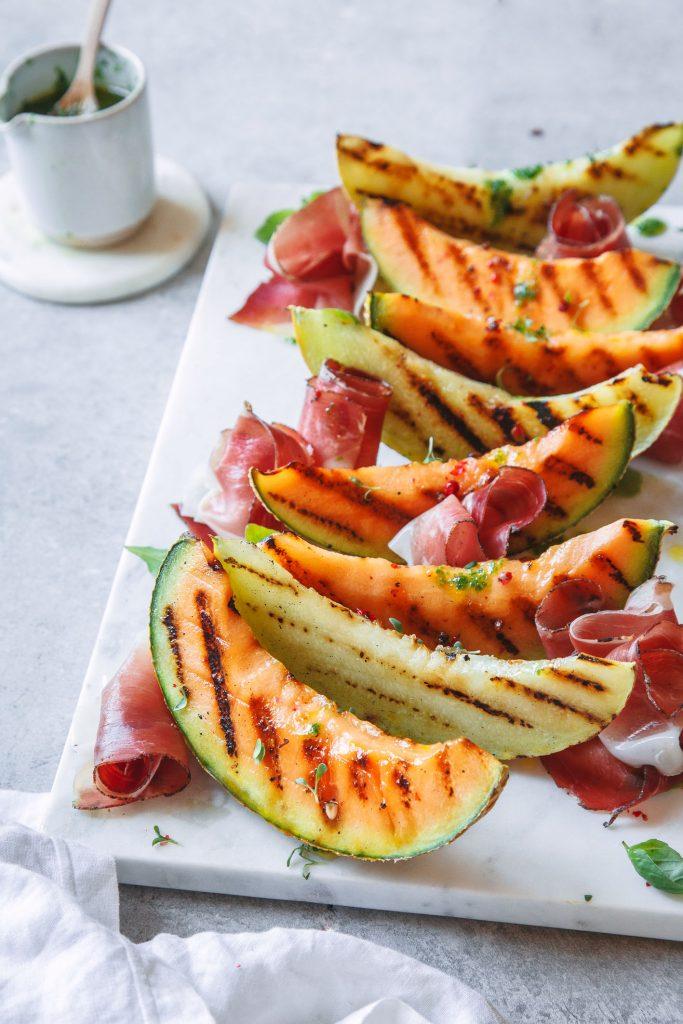 Gegrillte Melonenviertel