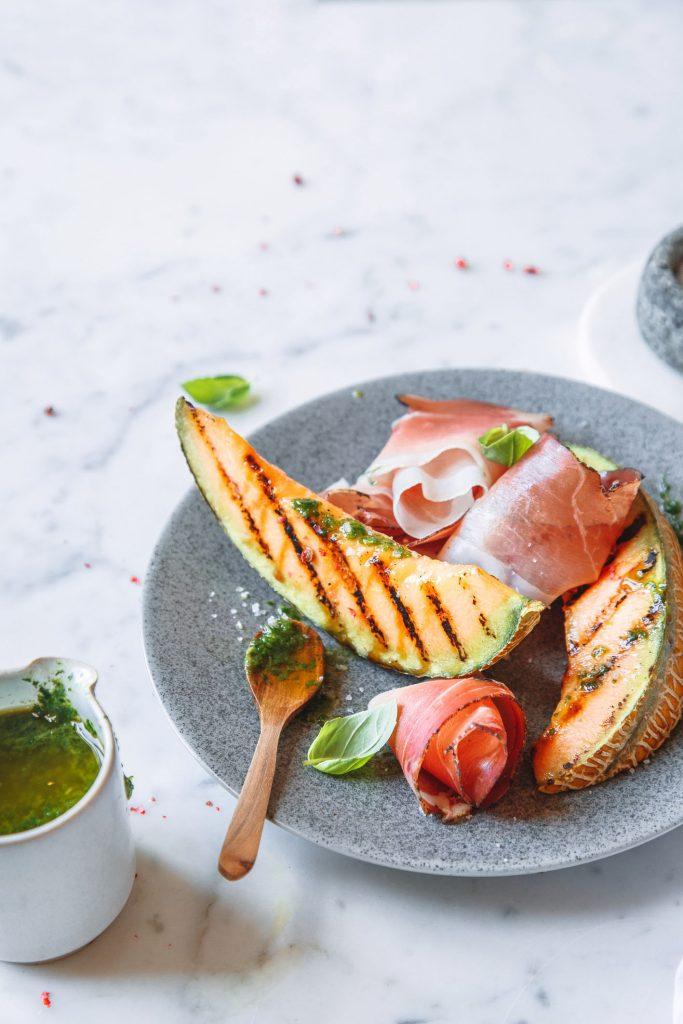 Melone vom Grill mit Südtiroler Speck