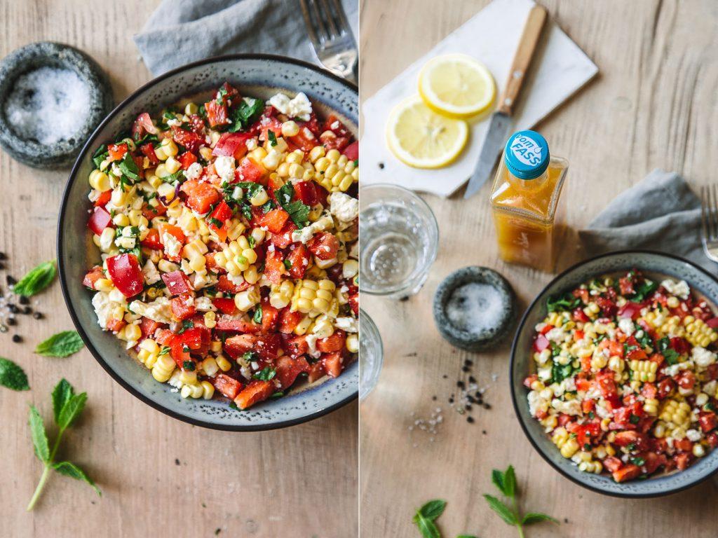 Paprika-Maissalat zum Grillen