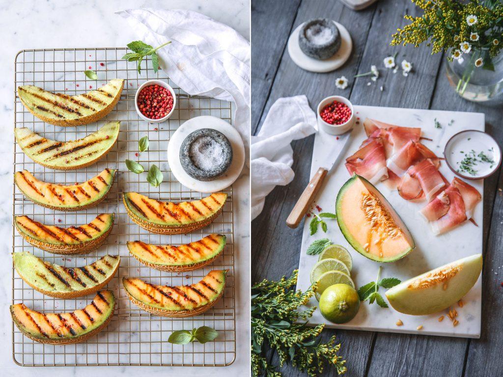 Gegrillte Melone mit Südtiroler Speck
