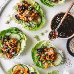 Asiatische Salat Wraps