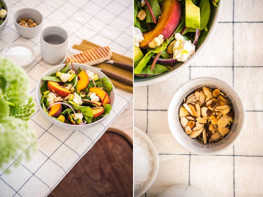 Sommerlicher-Pfirsich Avocado Salat Foodistas