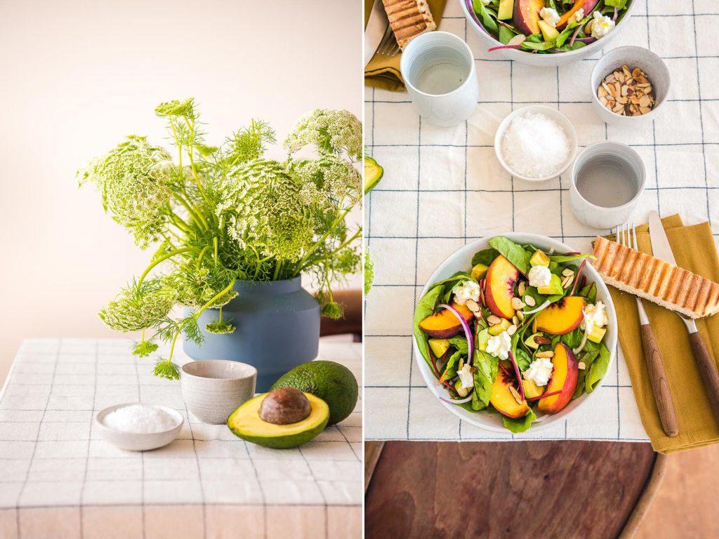 Sommerlicher Pfirsich Avocado Salat Foodistas
