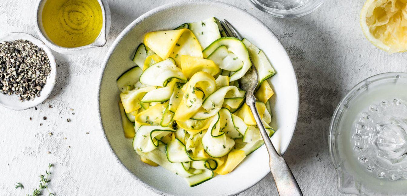 Gastbeitrag von Kleines Kulinarium: Roher Zucchinisalat