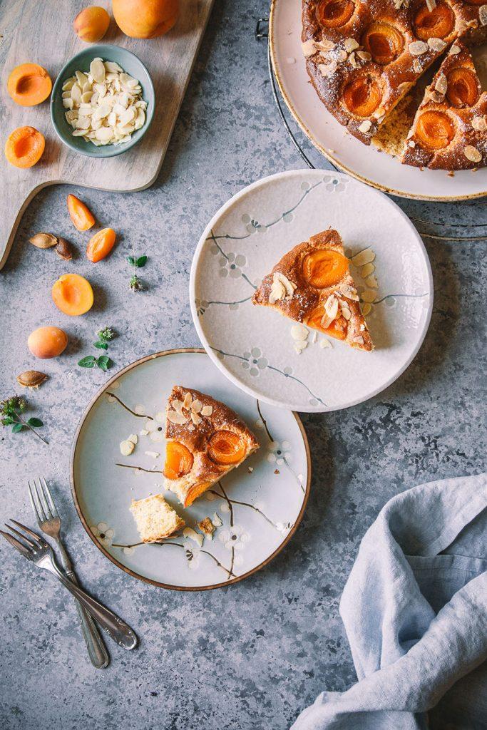 Aprikosen-Mandeltarte (low carb, zuckerfrei, glutenfrei)