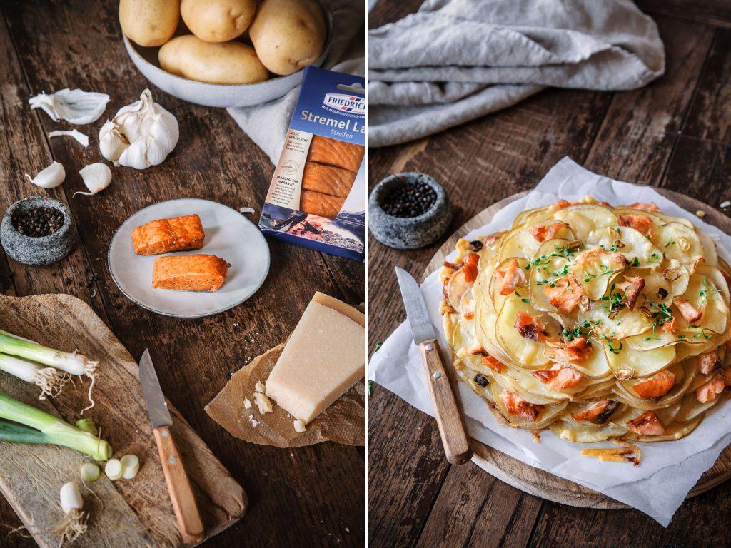 Kartoffel-Lachs-Galette