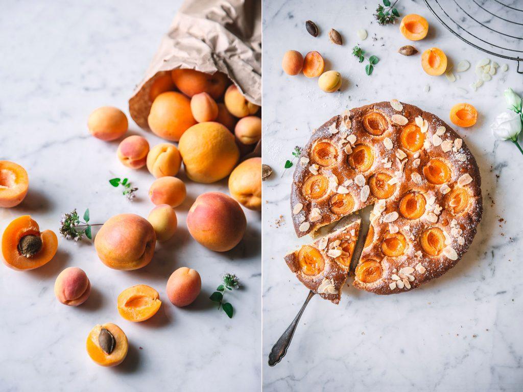 Rezept für Aprikosen Mandelkuchen