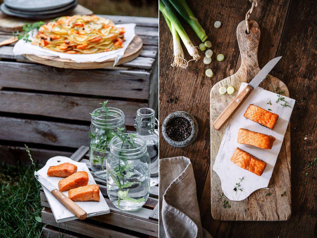 Stremellachs und Kartoffelgalette für's Picnick
