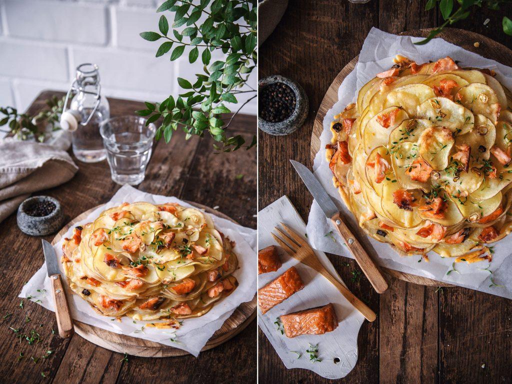 Kartoffelgalette mit Stremellachs