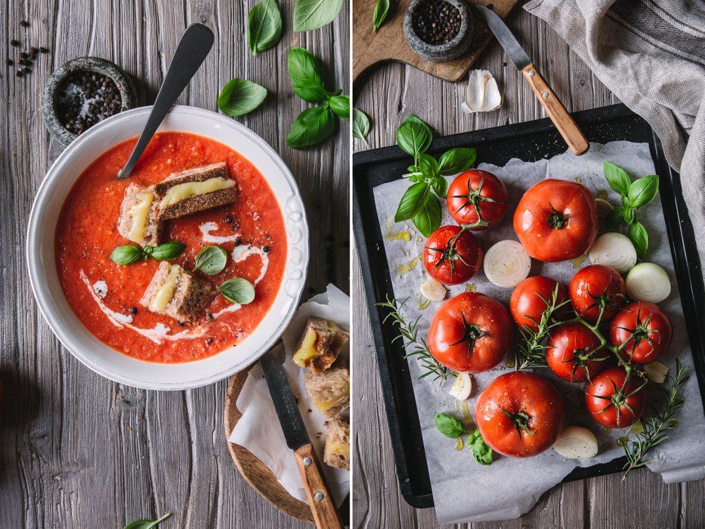 Tomatensuppe mit gerösteten TOmaten